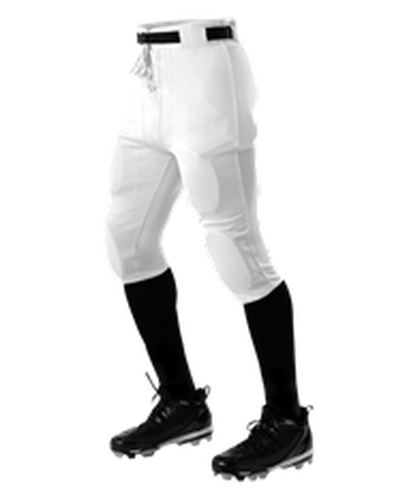 Alleson Youth Football Pants Pads Black White Medium YM