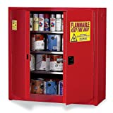 Eagle Paints, Inks, And Class Iii Combustibles Safety Cabinet - 43X18x44'' - 40-Gallon Capacity - Manual-Closing Doors - Red - Red