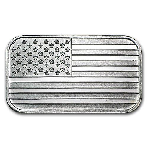 Bullion Bar Silver - 1 oz. Silver American Flag Bar