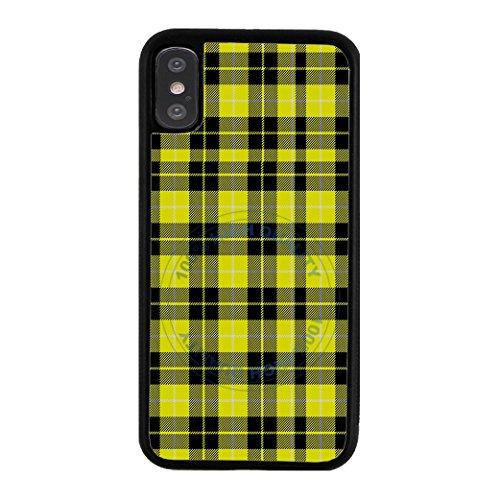 BleuReign Yellow Lumberjack Buffalo Plaid Rubber Phone Case for Apple iPhone X Xs Ten ()