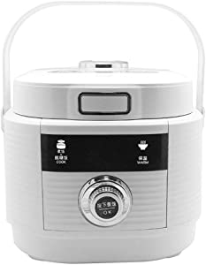 Fully automatic Rice Cooker,Health and hypoglycemic Rice Cooker,2L Mini Home Electric Pressure Cookers Suitable,Non-Stick Inner Pot,Keep-Warm Function,Double Gall Stainless Steel Rice Cooker
