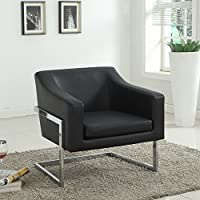 Best Master Furniture Modern Club Chair, Medium, Black