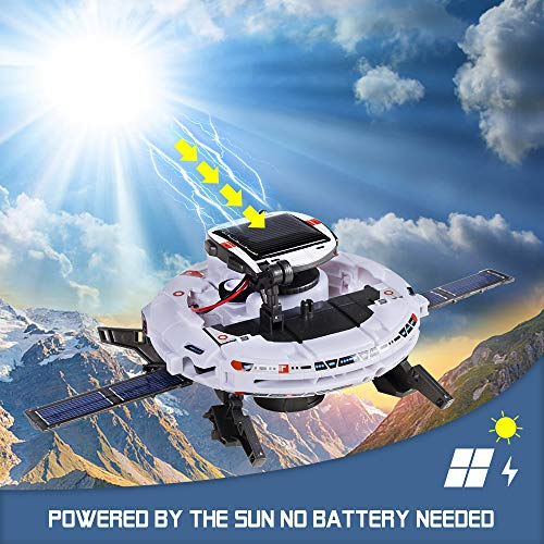STEM Toys 6-in-1 Space Solar Robot Kit,Educatoinal Learning Science Building Toys DIY Educational Science Kits Gift for…