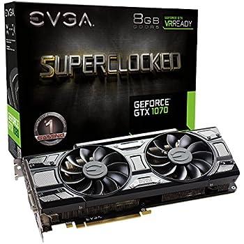 EVGA GeForce GTX 1070 SC GAMING ACX 3.0 Black Edition, 8GB GDDR5, LED, DX12 OSD Support (PXOC) 08G-P4-5173-KR