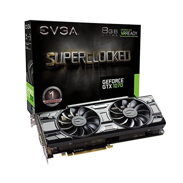 EVGA GeForce 08G-P4-5173-KR, GTX 1070 SC GAMING ACX 3.0 Black Edition, 8GB GDDR5, LED, DX12 OSD Support (PXOC)