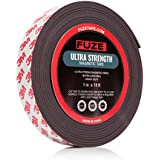 Magnet Tape Roll - 1 inch x 15 ft - heavy duty magnetic strength & strong adhesive - holder strips for kitchen spice rack, knives / knife, refrigerator, whiteboard, dry erase, window, wall.