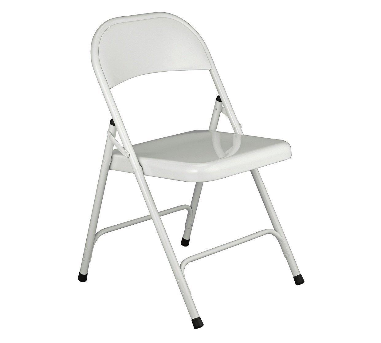 Habitat Macadam White Metal Folding Chair