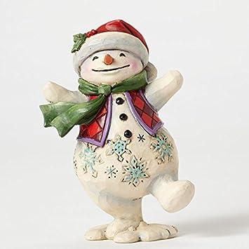 Jim Shore Heartwood Creek JS HWC Fig Pint Walking Snowma Figurine