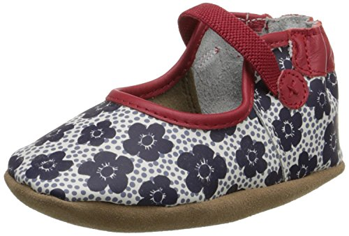 Robeez Blooming Bella Mary Jane Crib Shoe (Infant), Red/White, 6-12 Months M US Infant