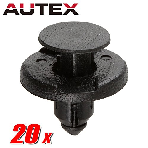 PartsSquare 20pcs Fender Liner Fastener Rivet Push Clips Retainer Replacement for Infiniti QX50 Q40 Q50 QX70 Q70 QX60 QX80 QX56 Q60 FX45 FX35 Cube Frontier Rogue Murano Quest NV3500 GT-R