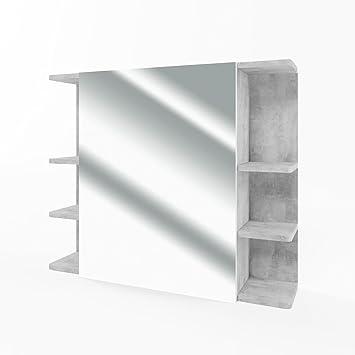VICCO Spiegelschrank FYNN 80 Cm   Badezimmer Spiegel Hängespiegel  Badspiegel Badezimmerspiegel (Beton)