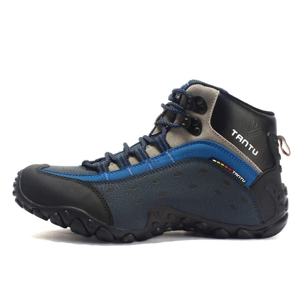 Ywqwdae Herren Große Größe Trainer Weiche Sohle Rutschfeste Atmungsaktive Outdoor Wanderschuhe Klettern (Farbe   Blau Größe   EU 46)