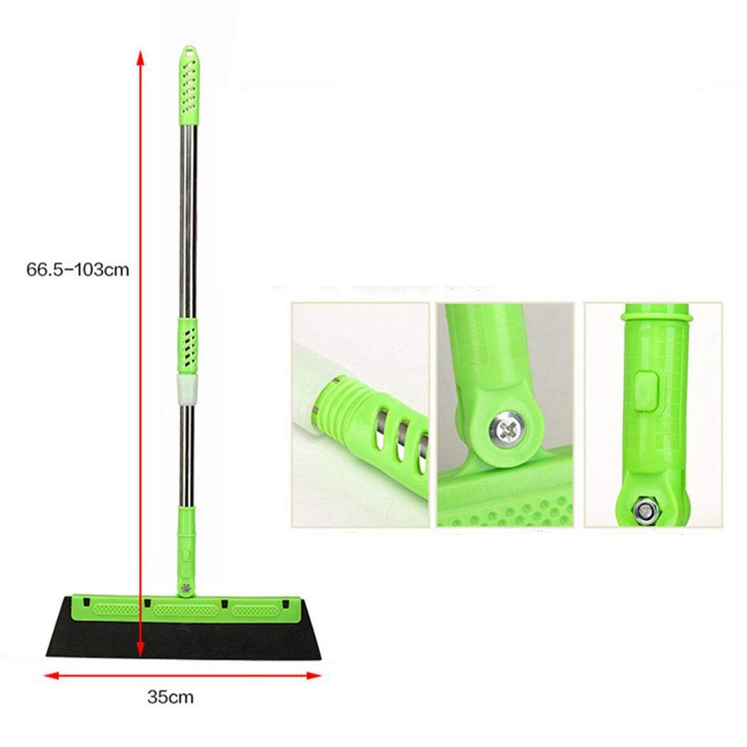 UpBeauty Telescopic Magic Dust-Free Sweeping Brush Broom Non-stick Hair Wiper Blade Broom Multi-Function Scraper Glass Shower Replaceable Blade Scraper Wiper by UpBeauty