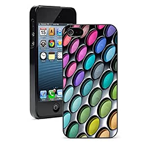 Apple iPhone 5 5S Hard Back Case Cover Colorful Eye Shadow Makeup Palette (Black)