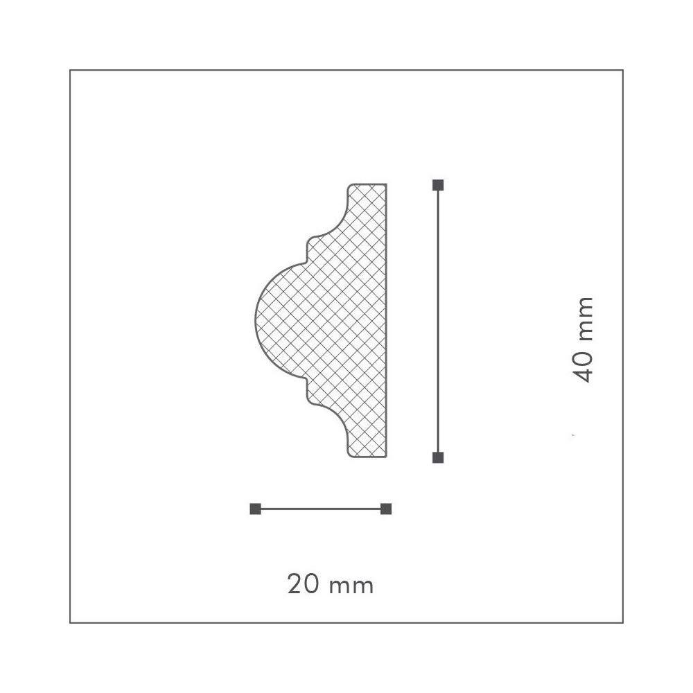 NMC Decoflair Cimaise CO2 Polystyr/ène HD