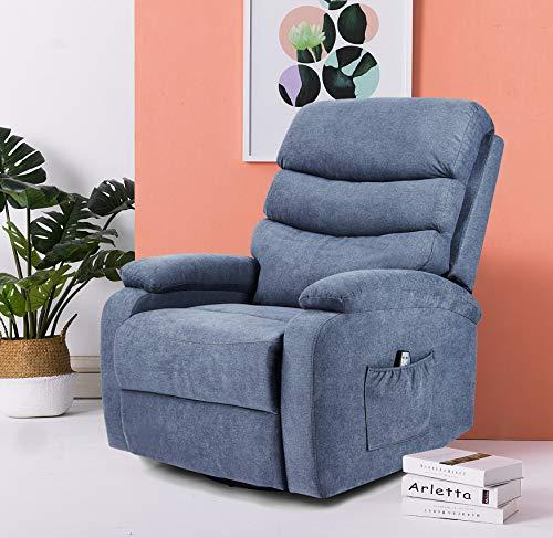 Living Room Artist Hand 8 Point Massage Recliner Lounge Chair, Zero Gravity Ergonomic Living Room Snuggling Sofa, Swivel Gliding…