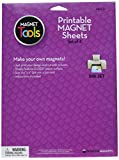 Dowling Magnets Printable Sheets (x 11 Inches) Set of 4, Inkjet Printer Surface, 8.5 inches wide x 11.5 inches high, White Glossy
