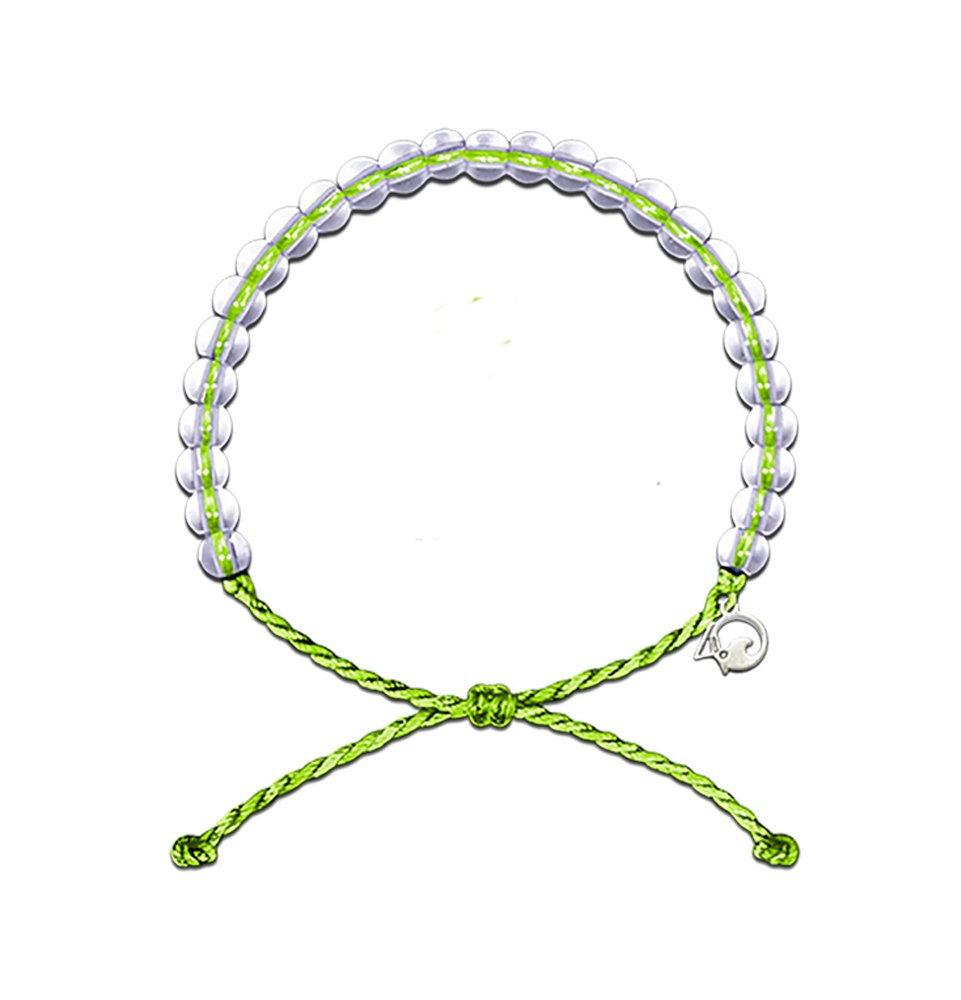 4OCEAN Bracelet with Charm Made from 100% Recycled Material Upcycled Jewelry (Green)