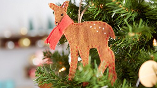 Hand-Stitched Deer Ornament ()