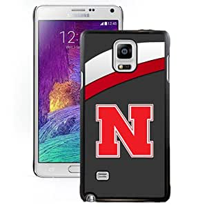 Popular And Durable Designed Case With Ncaa Big Ten Conference Football Nebraska Cornhuskers 8 Protective Cell Phone Hardshell Cover Case For Samsung Galaxy Note 4 N910A N910T N910P N910V N910R4 Phone Case Black