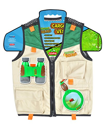 Nature Bound Cargo Vest for Kids with Zipper, 4 Pockets, and Durable Stitching (Toys Diego)