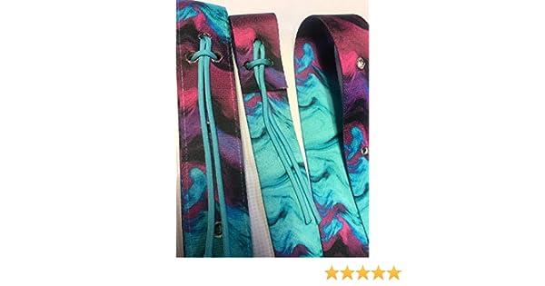 e9e1c87cfdb4 Amazon.com: purple turquoise tie dye cinch strap set nylon latigo: Handmade