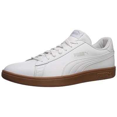 PUMA Smash Sneaker White-Gray Violet-Gum, 10.5 M US | Fashion Sneakers