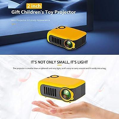 ZUKN Mini Proyector LCD Portátil Altavoz Incorporado 800 Lúmenes ...