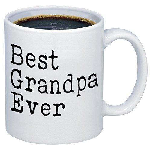 P&B funny mugs P&B Best Grandpa Ever Gift Ceramic Coffee Mugs M116 (11 oz.)