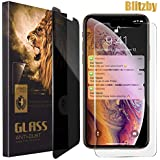 Privacy Screen Protector for Apple iPhone Xs Max, 6.5 Inches, Anti-Spy Tempered Glass Film, 2-Pack