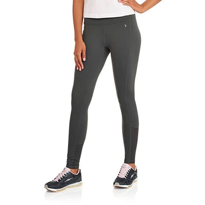 2bdf0a54a8e3b Danskin Now Women's Performance Compression Leggings with Mesh Insets  (Large, Charcoal)