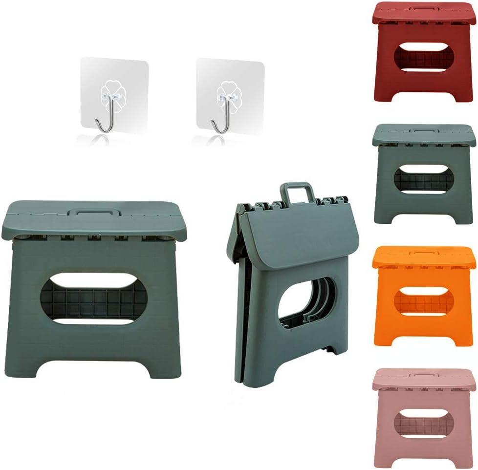 Portable Folding Step Stool Bathroom Lightweight Footstool for Kid Green