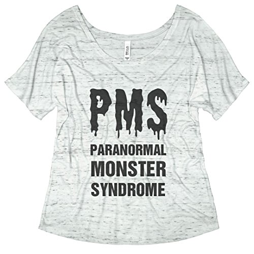 T-shirt Girls Pms (Customized Girl PMS Paranormal Monster Syndrome: Bella Ladies Flowy Slouchy Tee)