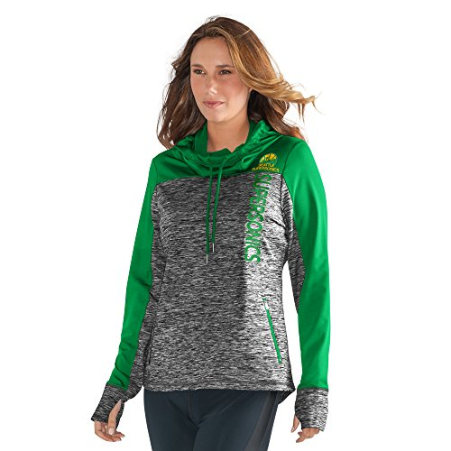 GIII For Her NBA Seattle Supersonics Women's Sideline Pullover Hoody, X-Large, Heather Grey