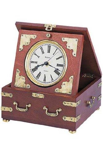 Bulova B7450 Edinbridge Table Clock, Walnut
