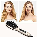 Best Cheap Hair Straighteners - Royalfirst Hair Straightening Brush, Thermo Hair Straightener Brush Review