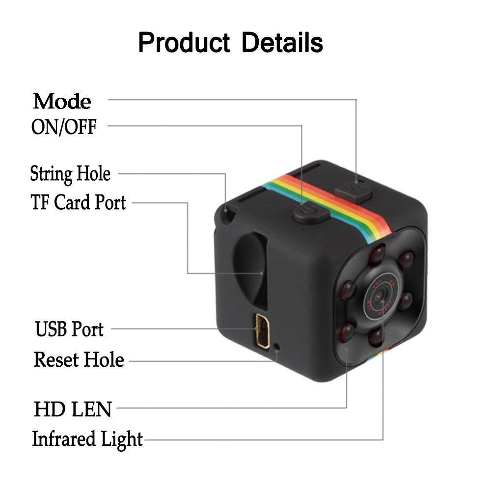Mini spy Hidden Camera,Lieslee Spy Camera, Wireless Hidden WiFi Camera 1080P Portable Small HD Nanny Cam with Night Vision and Motion Detective, Indoor Covert Security Cameras for Home and Office