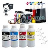 INKUTEN Continuous Ink Supply System CISS for Brother LC103 LC101 LC105 LC107 (With 4 INK Refill Bottle SET) 2,000 ml Refill Ink