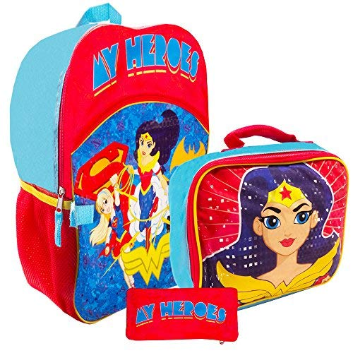 Super Hero Girls Backpack and Lunch Box Set -- Deluxe 16