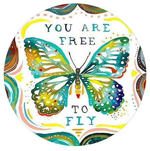 Butterflies Snap - Rockin Angels You are Free to Fly Butterfly Enamel 20mm Snap Button Charm for Ginger Snaps