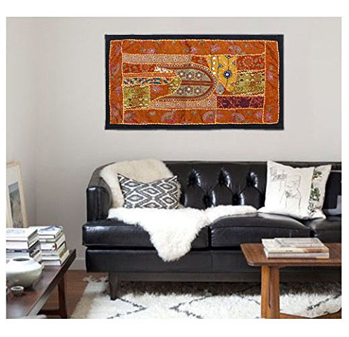 (Indian handmade Wall Hanging Bohemian patchwork Tapestries , Headboard tapestries , Runner, WALL Art Embroidered Vintage Tapestry)