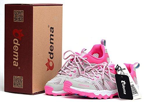 Femmes Rapidement Sneaker Odema Eau Dentelle Sec Gris Rouge Hommes Maille Aqua UF5YqX
