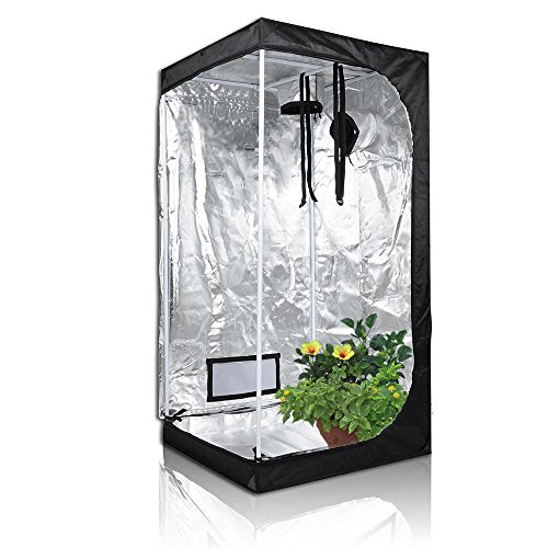 TopoLite Grow Tent for Hydroponic Indoor Growing System Dark Room Grow Boxes (36″x36″x72″)