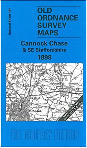 S E England Map.Cannock Chase And Se Staffordshire 1898 One Inch Map 154 Old