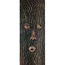 "Concrete Collective Kissey Face Tree Face Art 12"" x 10"" Cast Stone Forest Face Tree people (Padre Brown)"