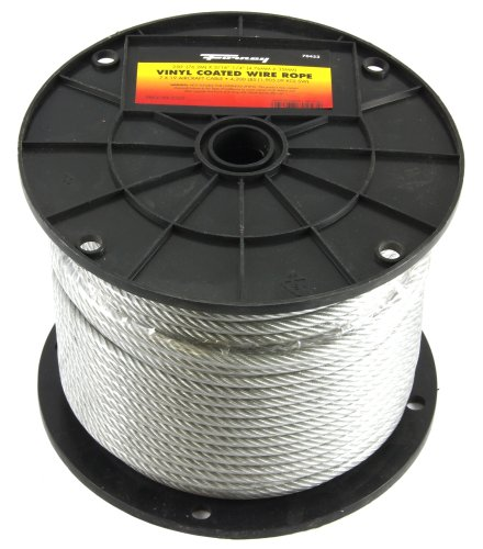Forney 70453 Wire Rope, Vinyl Coated Aircraft Cable, 250-Feet-by-3/16-Inch thru ()