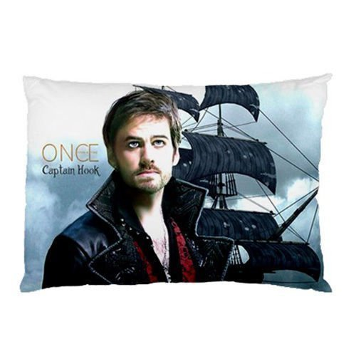Custom Once Upon A Time Captain Hook Pillowcase 20x36 two sides Zippered Rectangle PillowCases Throw Pillow Covers (Hook From Once Upon A Time)