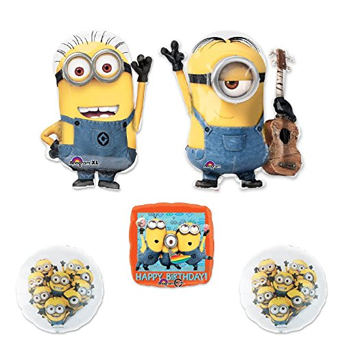 DESPICABLE ME 2 MINIONS 5 pc STEWART PARTY Extension Balloon Kit