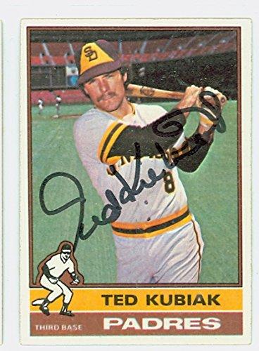 Ted Kubiak AUTOGRAPH 1976 Topps #578 San Diego (1972 San Diego Padres)
