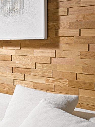 Holzriemchen Wand wodewa eiche natur echtholz 3d optik 200 x 50mm
